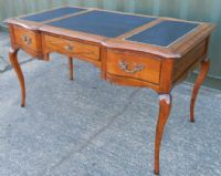 Leather Top Walnut Writing Desk
